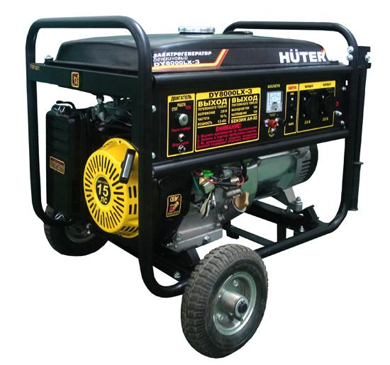 Генератор бензиновый DY 8000 LX-3 HUTER (380В)