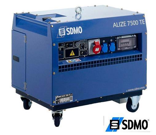 Генератор бензиновый SDMO Prestige ALIZE 7500 TE(в шумоизолиционом кожухе)