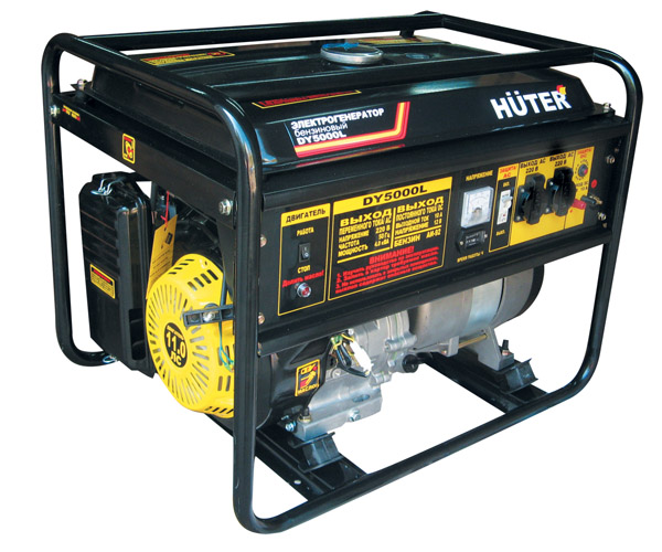 Генератор бензиновый DY5000L HUTER