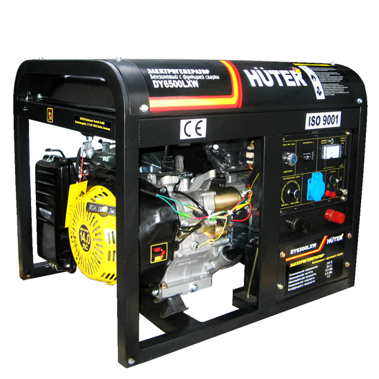 Генератор бензиновый сварочный DY 6500 LXW Huter