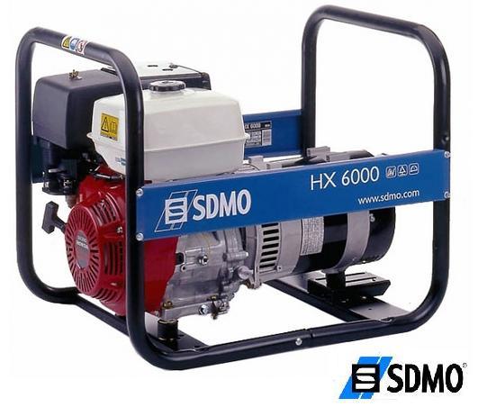 Генератор бензиновый SDMO Intens HX 6000 C