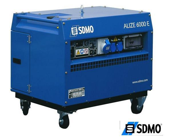 Генератор бензиновый SDMO Prestige ALIZE 6000 (в шумоизолиционом кожухе)