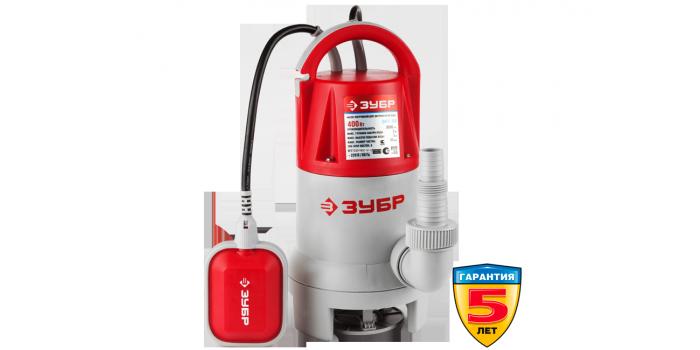 Насос погружной дренажный ЗНПГ-400 Зубр
