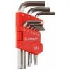 Ключи имбусовые шестиграный от 1.5 до 10 мм МАСТЕР 9 предметов Зубр 27460-2